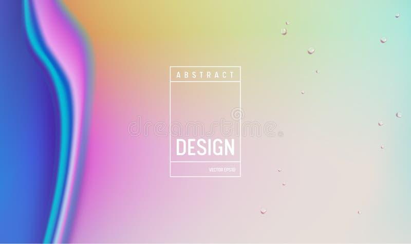 Diseño del fondo del color del gradiente hidráulico Cartel o página mínimo futurista flúido del aterrizaje Ejemplo de moda libre illustration