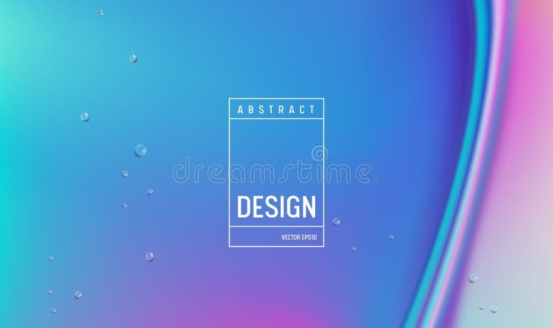Diseño del fondo del color del gradiente hidráulico Cartel o página mínimo futurista flúido del aterrizaje Ejemplo de moda stock de ilustración