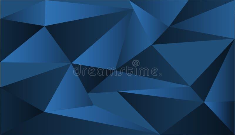 Diseño del fondo con formas azules del triángulo stock de ilustración