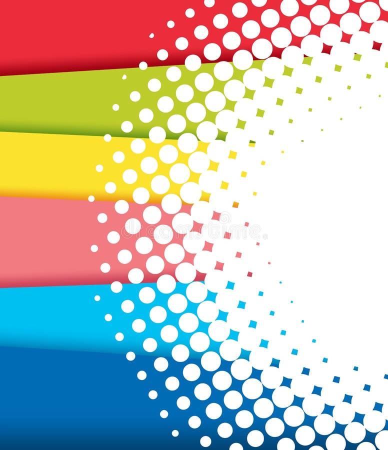 Diseño del fondo con las sombras del arco iris ilustración del vector