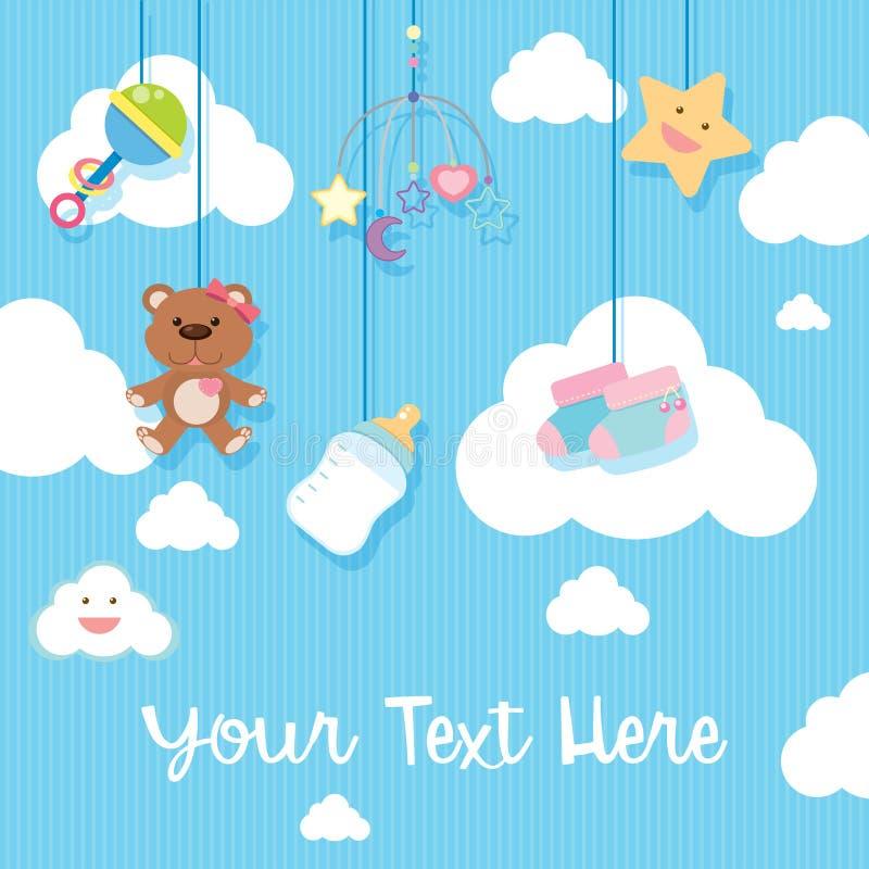 Diseño del fondo con los artículos del bebé libre illustration