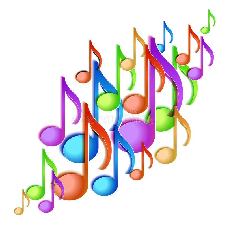 Diseño del fondo de la nota de la música. stock de ilustración