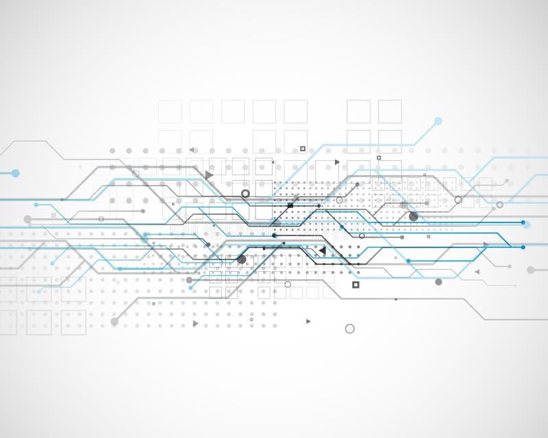 Diseño del fondo de la tecnología del diagrama de red del circuito del vector libre illustration