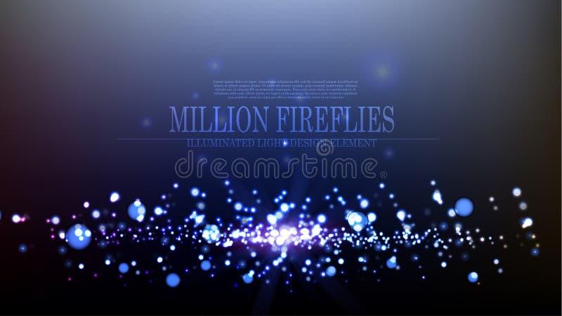 Diseño del fondo de las luciérnagas del extracto millón del vector libre illustration