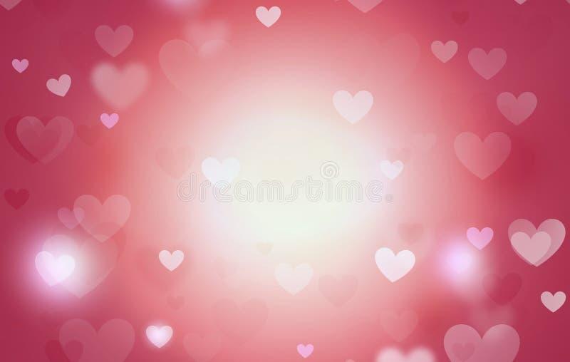 Diseño del fondo de los corazones ilustración del vector