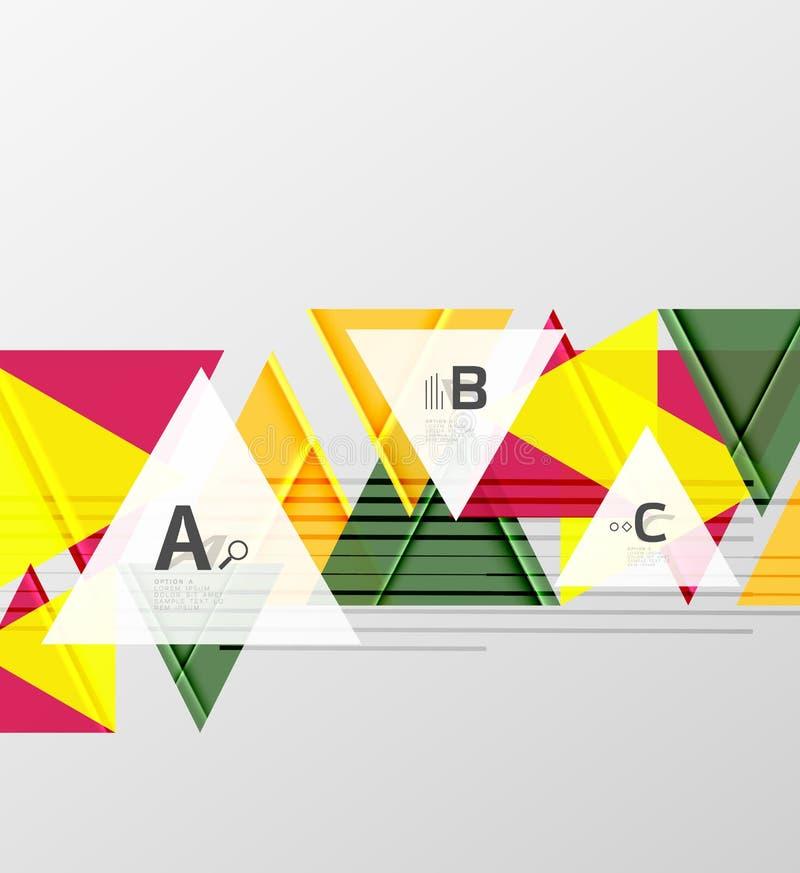 Diseño del fondo de los triángulos del color libre illustration