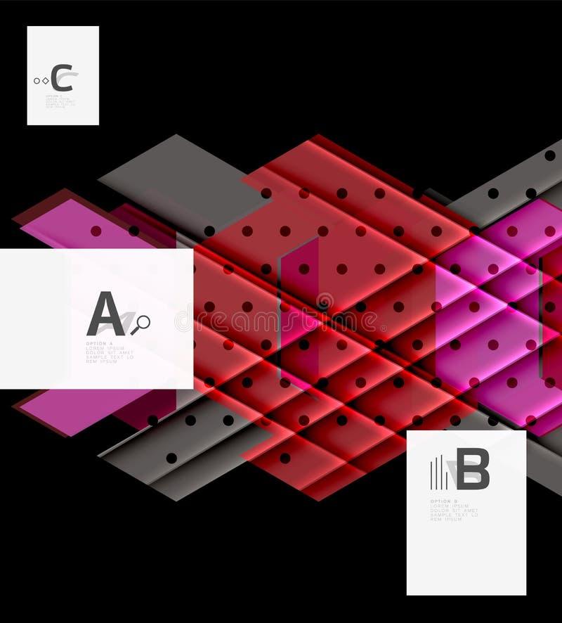 Diseño del fondo de los triángulos del color ilustración del vector