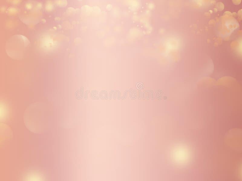 Diseño del fondo del extracto del brillo del oro de Rose ilustración del vector