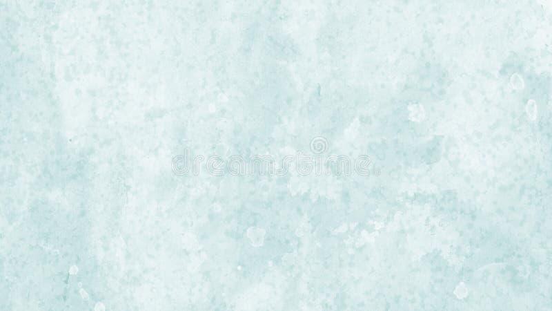 Diseño del fondo en blanco y azul con lavado de la acuarela y diseño enturbiados del corrimiento de la franja de goteos y de desc foto de archivo