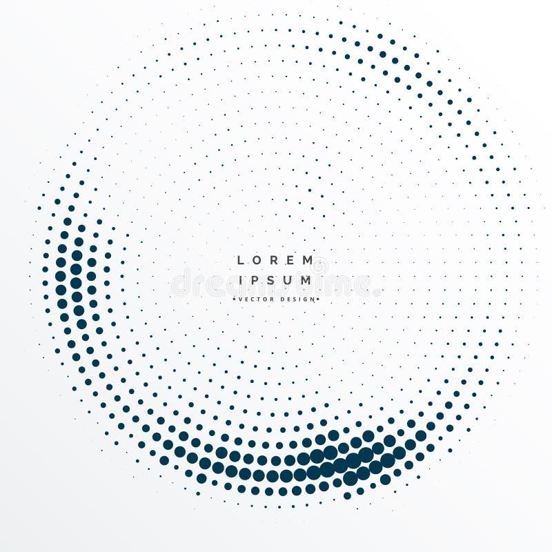 Diseño del fondo del marco de los puntos del tono medio stock de ilustración