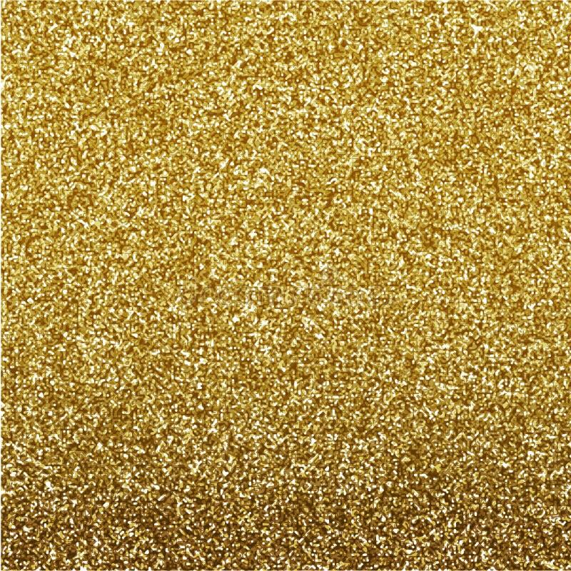 Diseño del fondo del oro de la textura del brillo, ejemplo del vector libre illustration