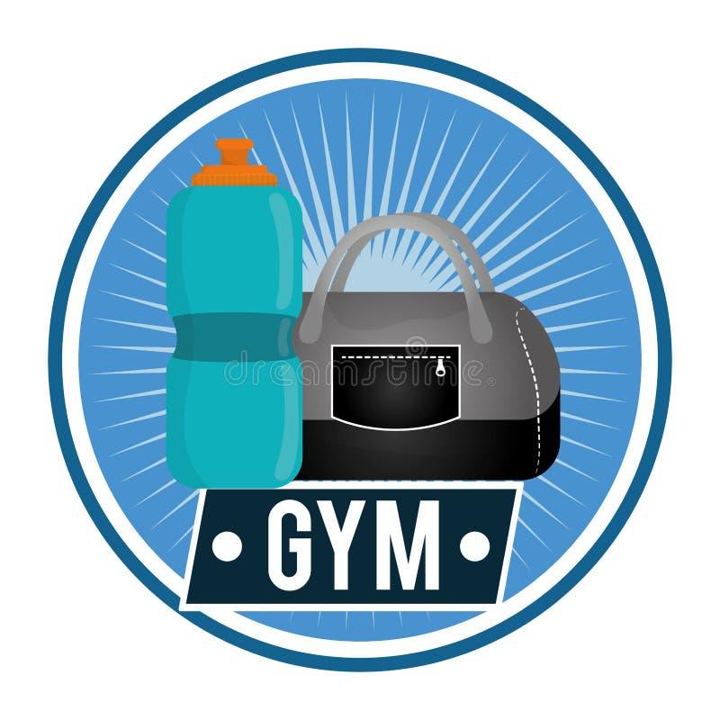 Diseño del gimnasio ilustración del vector