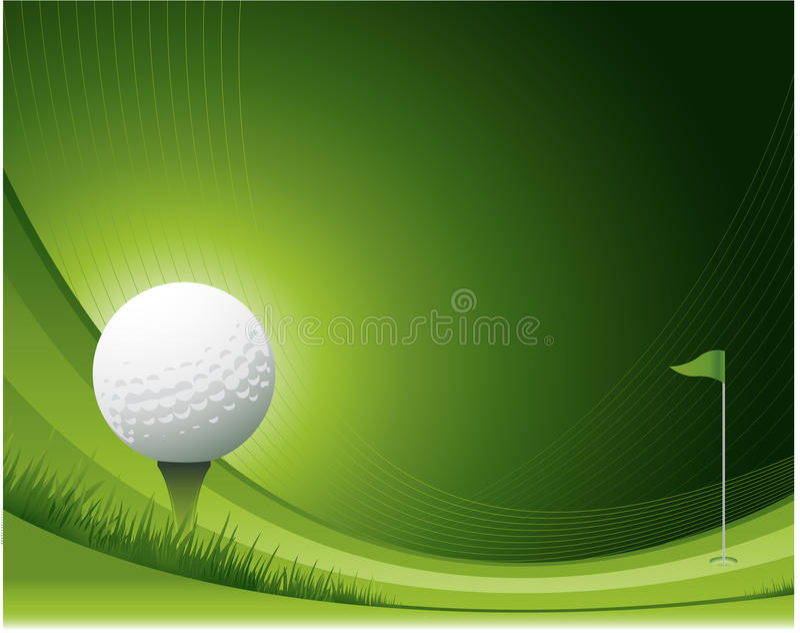 Diseño del golf que agita stock de ilustración