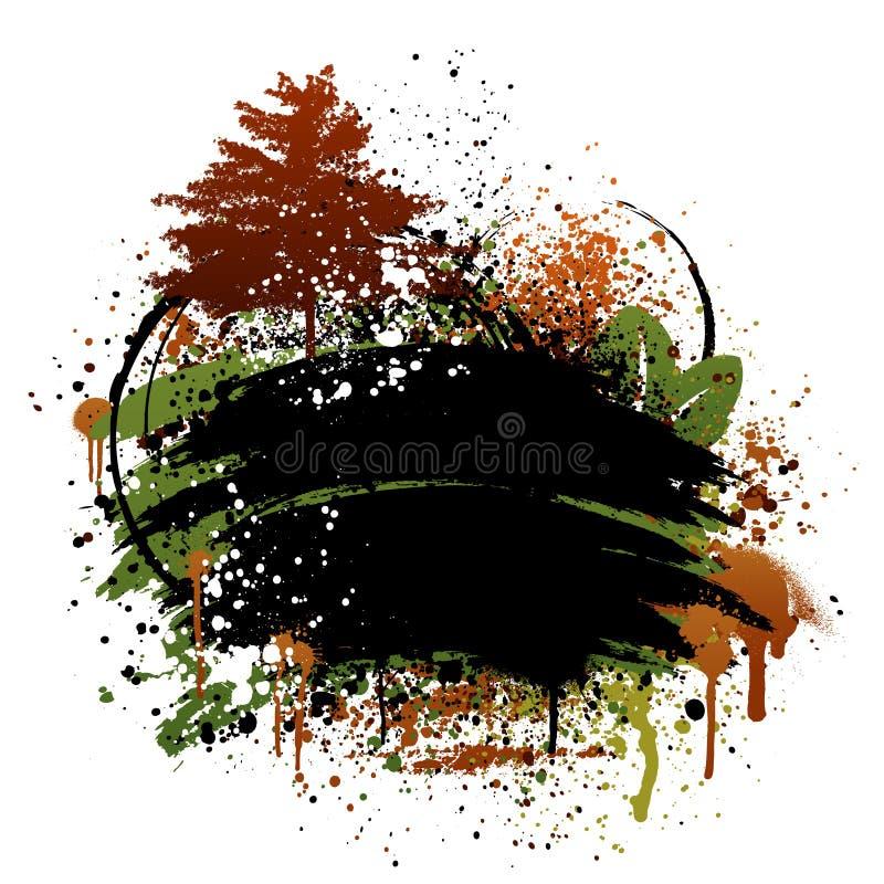 Diseño del grunge del otoño stock de ilustración