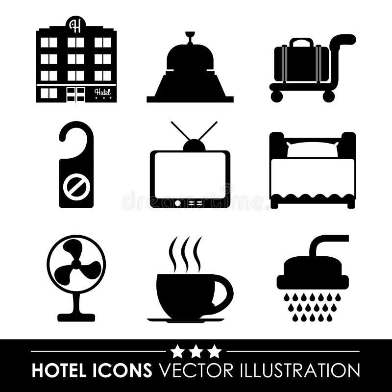 Diseño del hotel stock de ilustración
