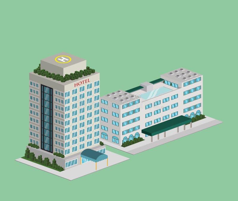 Diseño del hotel ilustración del vector
