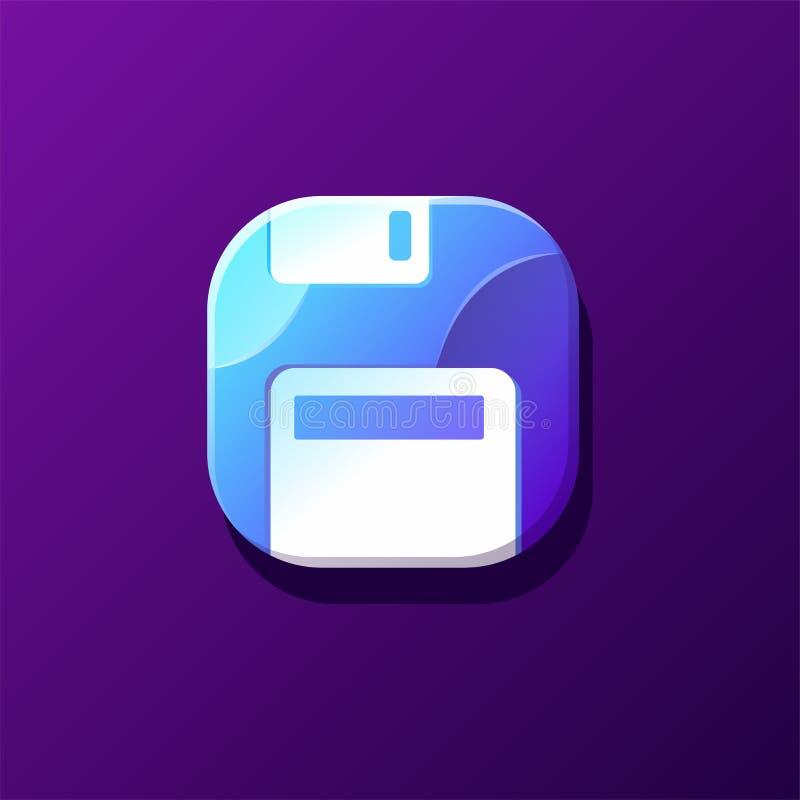 Diseño del icono del almacenamiento listo para utilizar stock de ilustración