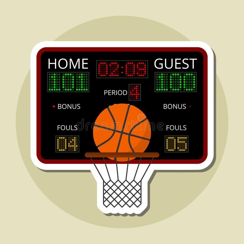 Diseño del icono del baloncesto libre illustration