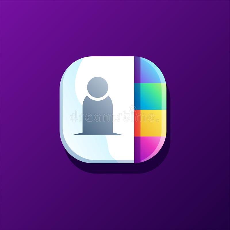 Diseño del icono del contacto listo para utilizar libre illustration