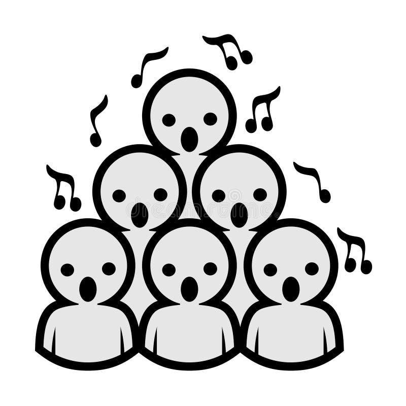 Diseño del icono del coro de la voz stock de ilustración