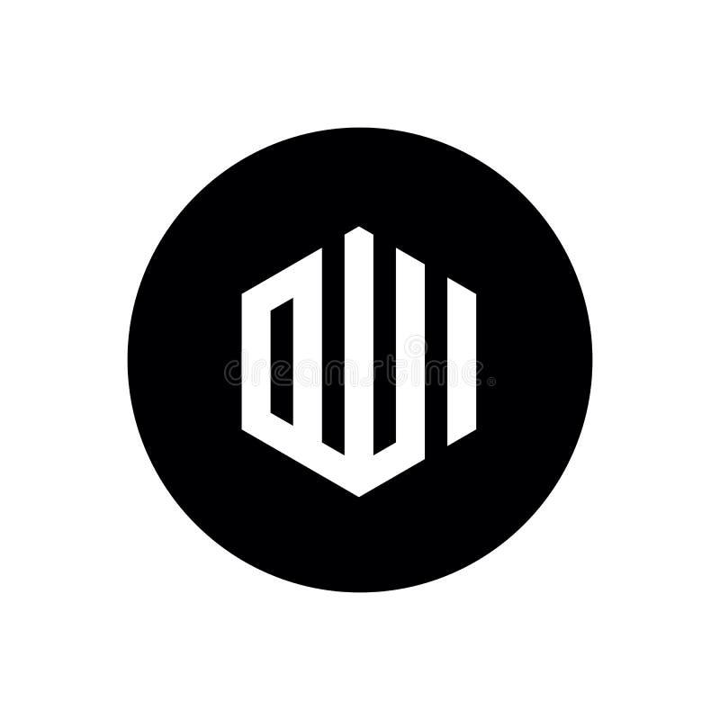 Dise?o del icono de Al?, combinado con forma negra del c?rculo, dise?o del ejemplo del logotipo del vector stock de ilustración