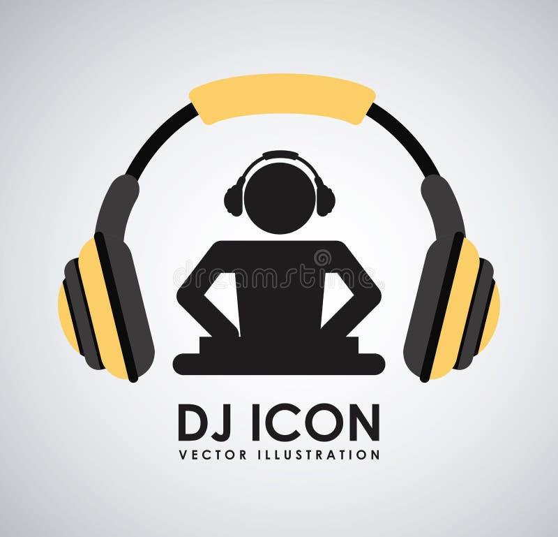 Diseño del icono de DJ ilustración del vector
