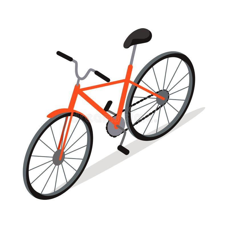 Diseño del icono de la bicicleta aislado Transporte personal stock de ilustración