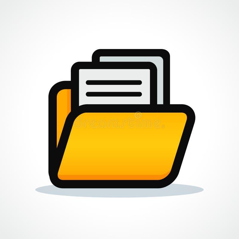 Diseño del icono de la carpeta de ficheros del vector stock de ilustración
