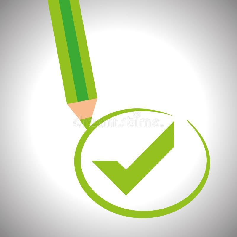 Diseño del icono de la encuesta ilustración del vector