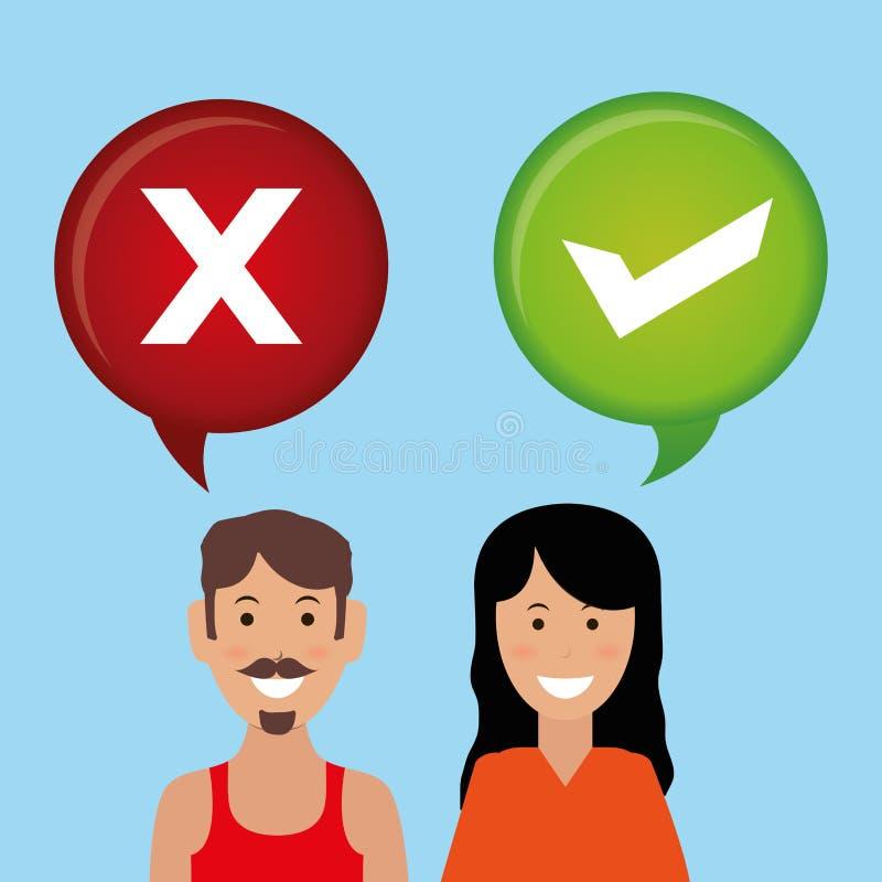 Diseño del icono de la encuesta libre illustration