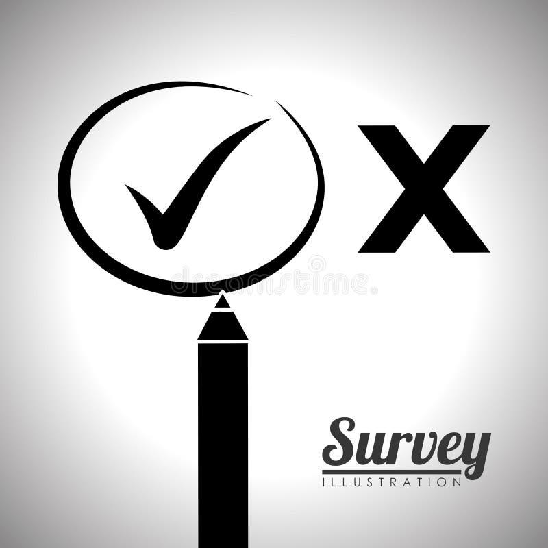 Diseño del icono de la encuesta stock de ilustración