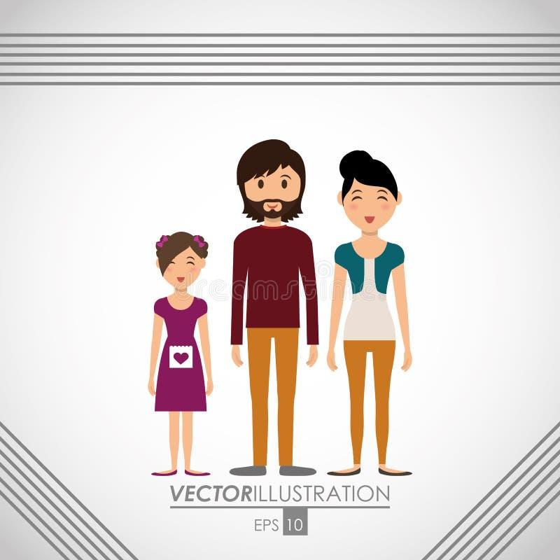 diseño del icono de la familia libre illustration