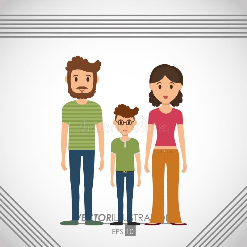 diseño del icono de la familia stock de ilustración