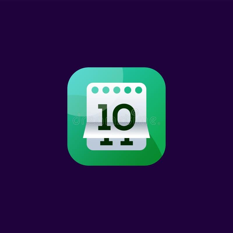 Diseño del icono de la fecha listo para utilizar libre illustration