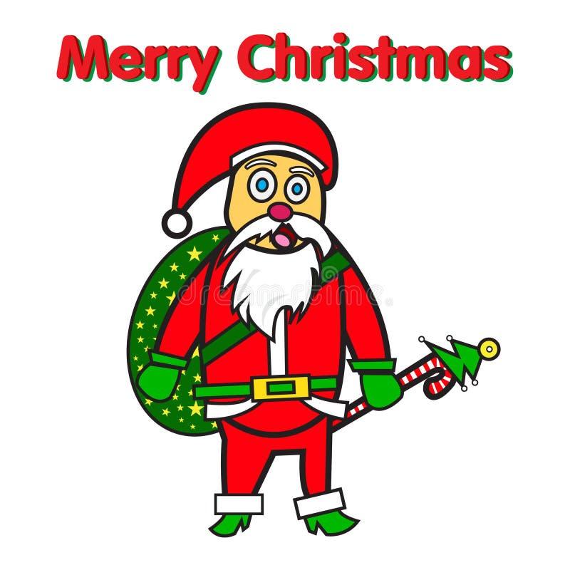 Diseño del icono de la Feliz Navidad de Papá Noel ilustración del vector