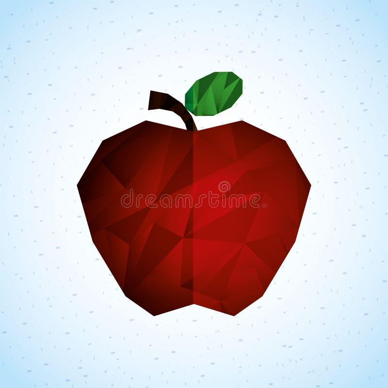 Diseño del icono de la fruta stock de ilustración