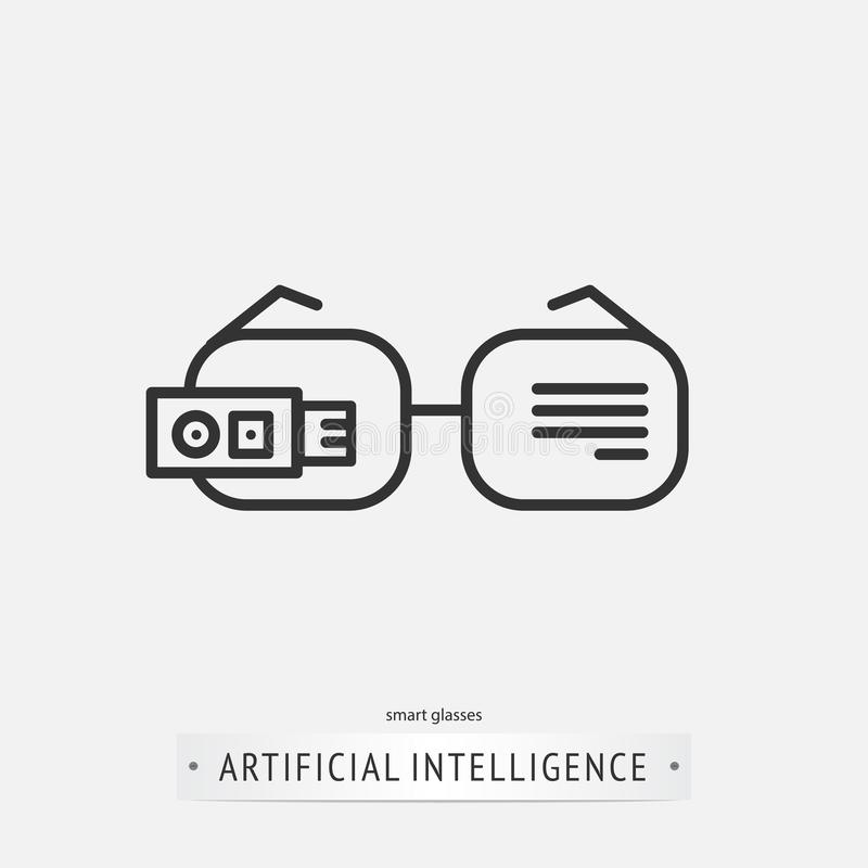 Diseño del icono de la inteligencia artificial libre illustration