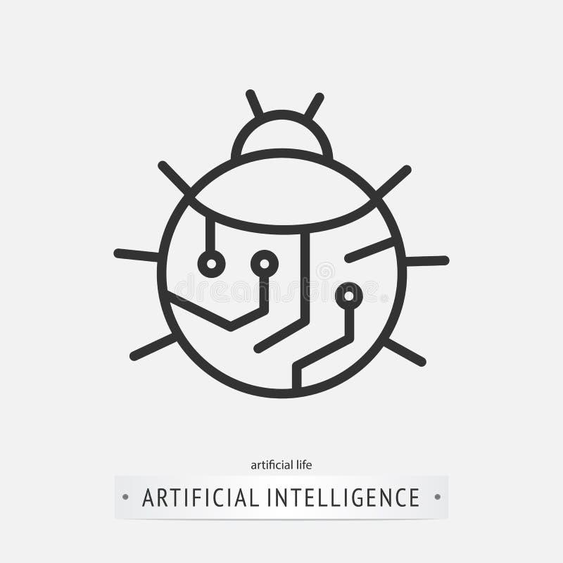 Diseño del icono de la inteligencia artificial ilustración del vector