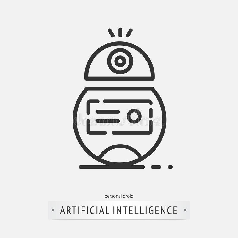 Diseño del icono de la inteligencia artificial stock de ilustración