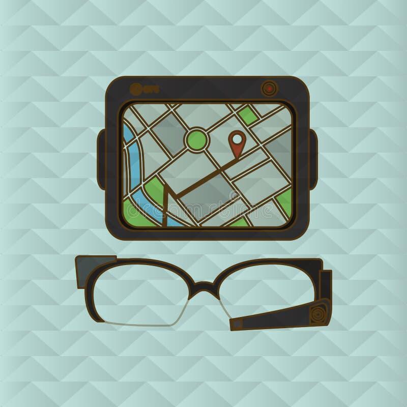 Diseño del icono de la tableta y del viaje libre illustration