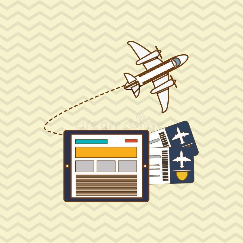 Diseño del icono de la tableta y del viaje ilustración del vector