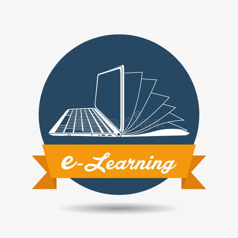 Diseño del icono del aprendizaje electrónico stock de ilustración