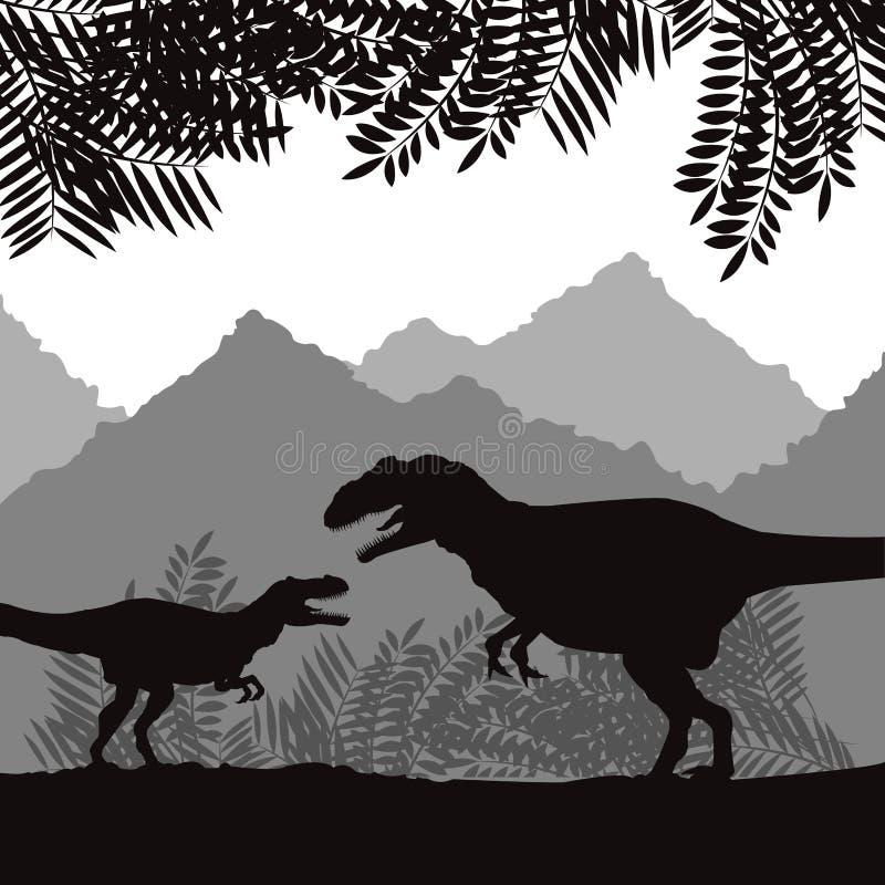 Diseño del icono del dinosaurio, ejemplo del vector libre illustration