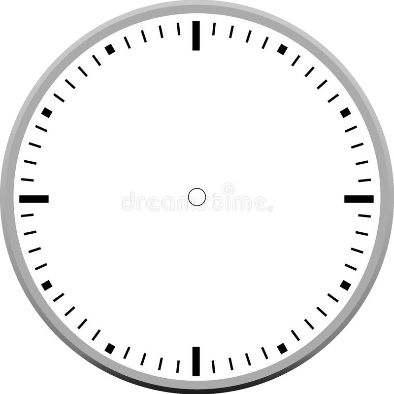 Diseño del icono del espacio en blanco de la cara de reloj imágenes de archivo libres de regalías