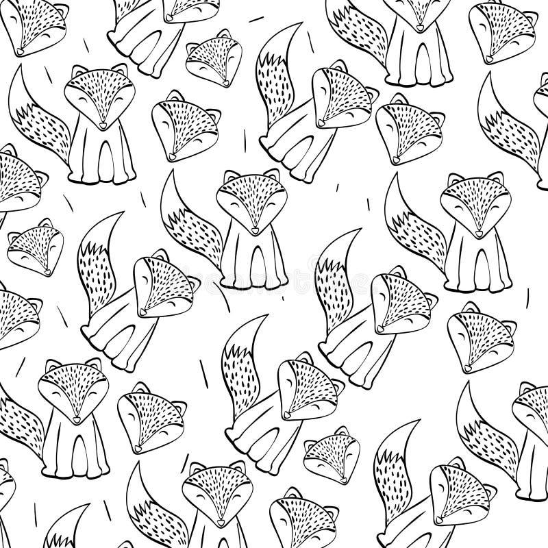 Diseño del icono del Fox, ejemplo del vector stock de ilustración
