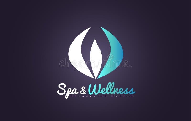 Diseño del icono del logotipo de la flor de la belleza del extracto de la salud del balneario stock de ilustración