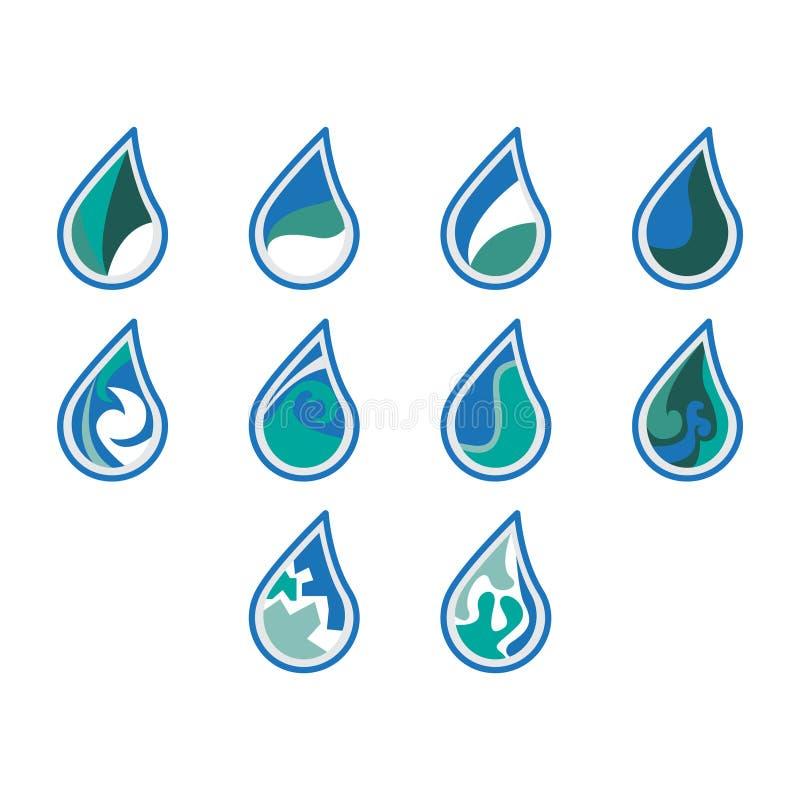 Diseño del icono del logotipo del agua fotografía de archivo