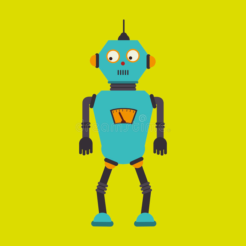 Diseño del icono del robot stock de ilustración