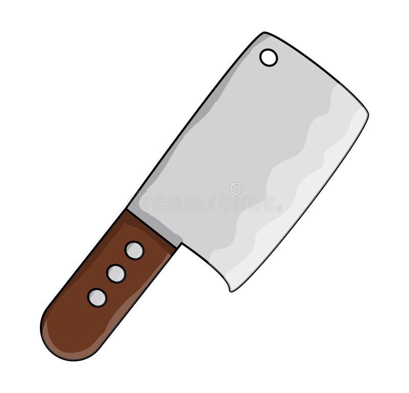Diseño del icono del símbolo del interruptor del carnicero de la cocina libre illustration