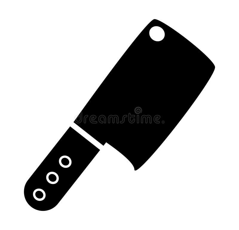 Diseño del icono del símbolo del interruptor del carnicero de la cocina ilustración del vector